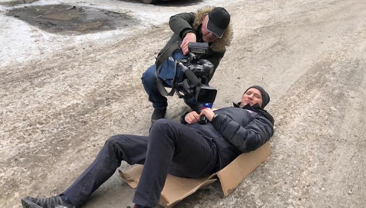 Журналиста Павла Брыкина сбила машина: водитель пытался уйти от интервью