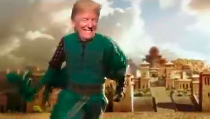 Трамп снялся в клипе в роли индийского принца-супергероя
