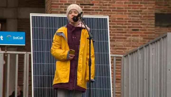 В Великобритании прошел марш детей во главе с экоактивисткой Гретой Тунберг