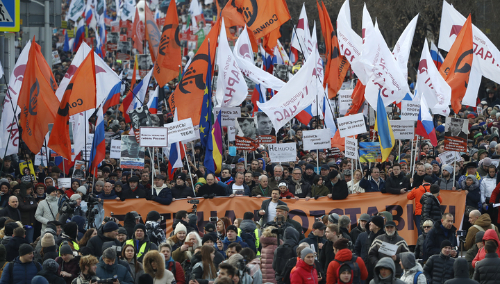 Марш в Москве: о Немцове почти забыли, зато развеяли скуку
