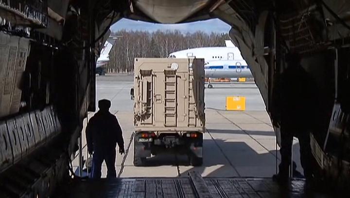 Первый самолет с военными вирусологами отправился из России в Италию