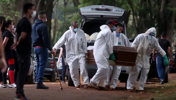 """Новый """"антирекорд"""": в Бразилии за сутки более 1000 человек умерли от коронавируса"""