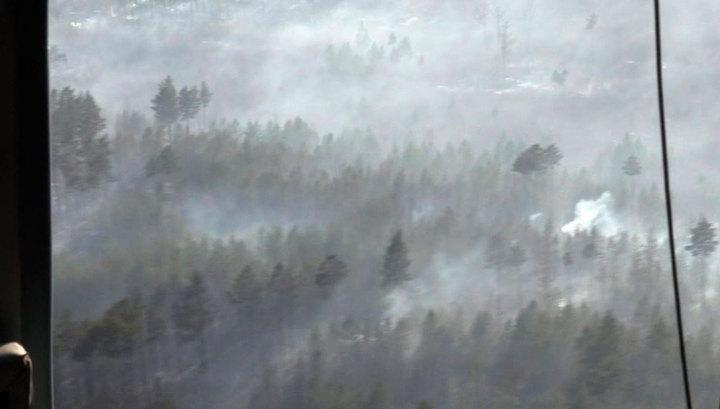 В России продолжается борьба с природными пожарами