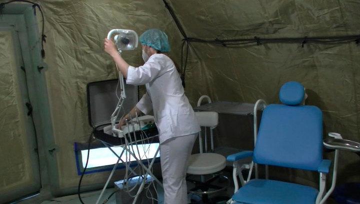 В Буйнакске готов к работе полевой госпиталь для больных с коронавирусом