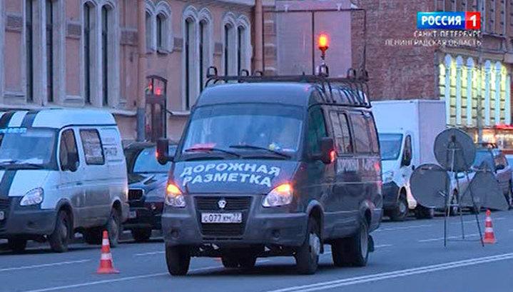 Зону парковки на улицах Петербурга выделят синим цветом