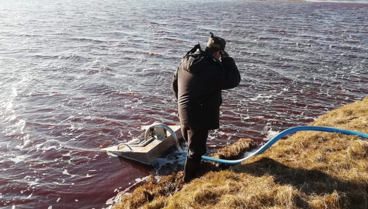 На месте разлива топлива в Норильске уже собрано более 700 тонн водонефтяной смеси