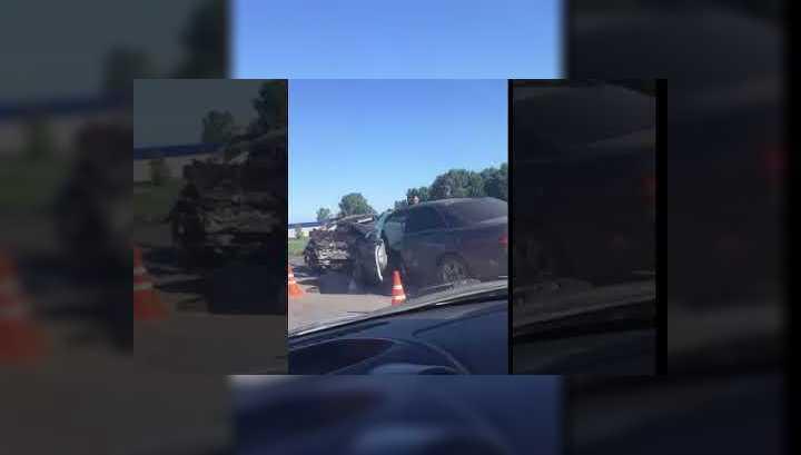 Лобовое столкновение в Кузбассе: пострадали семь человек