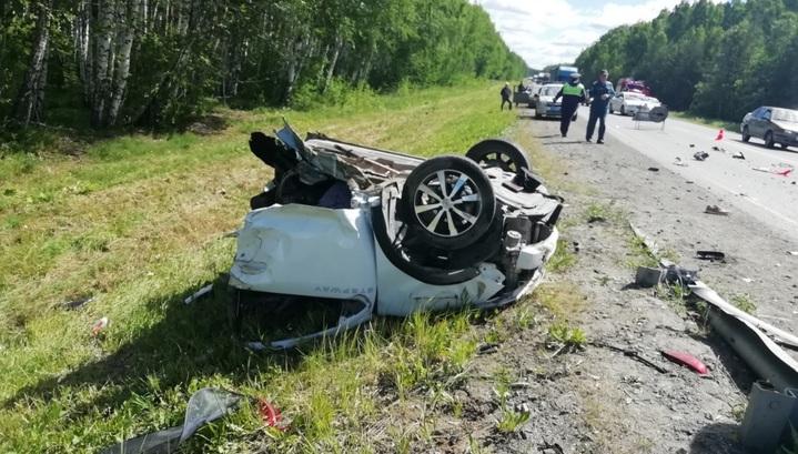 Вести.Ru: Водитель погиб: машину разорвало пополам в массовом ДТП ...