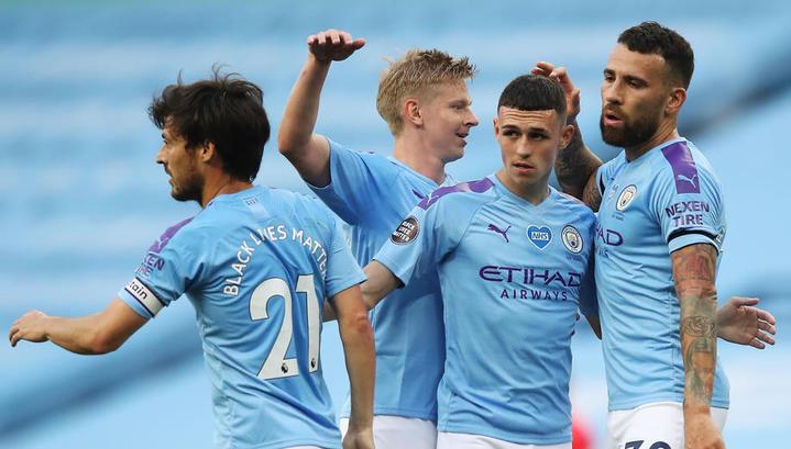 """Футболисты """"Манчестер Сити"""" забили пять безответных мячей в ворота """"Бернли"""""""
