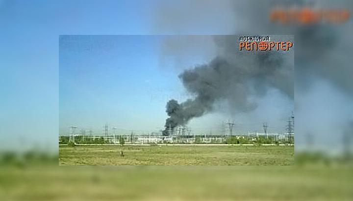 "Пожар на электроподстанции ""Чагино"". ВИДЕО очевидца"