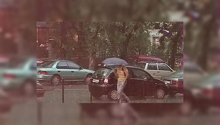 Москву накрыли дожди с грозами
