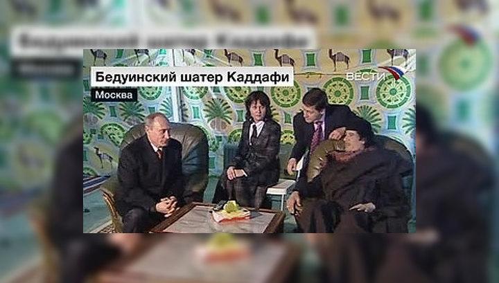 Кадыров рассказал Каддафи о развитии Чечни