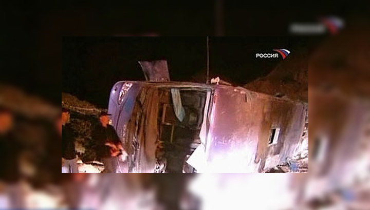Водитель разбившегося в Израиле автобуса с россиянами превысил скорость