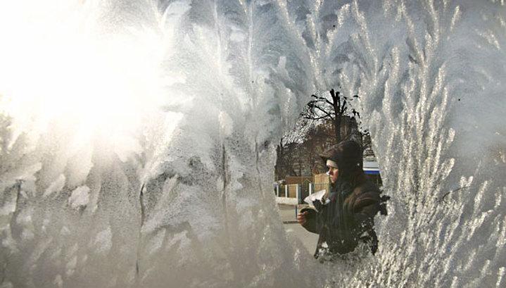 Зимние морозы начинаются в Москве