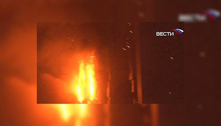 Высотный отель в Пекине полностью выгорел