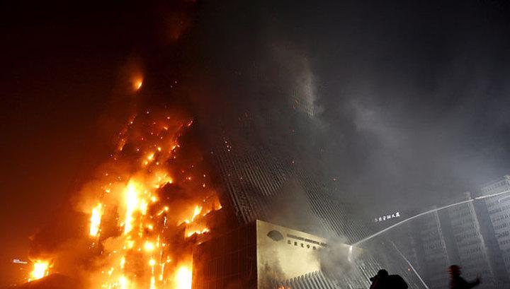 Пекинский отель сгорел дотла