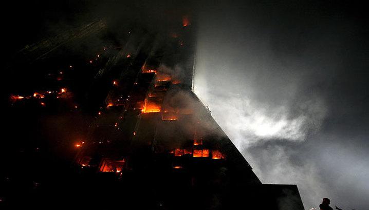 В связи с пожаром в пекинском небоскребе задержаны 12 человек