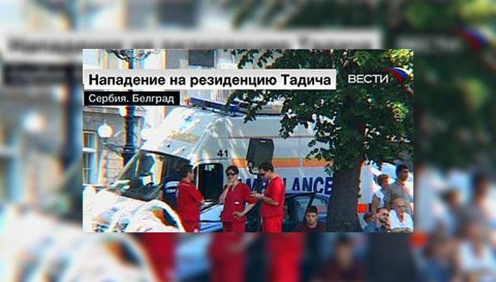 Серб с гранатами сдался властям после пяти часов переговоров