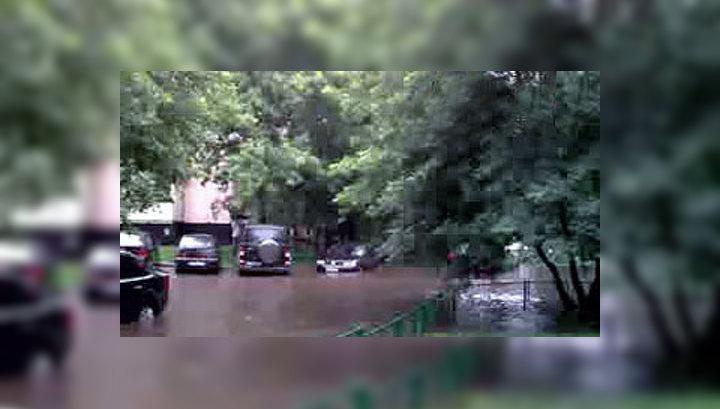 Потоп в Москве. Видео очевидца