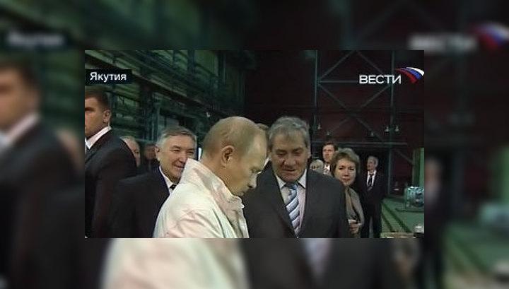 Путин нашел первый алмаз