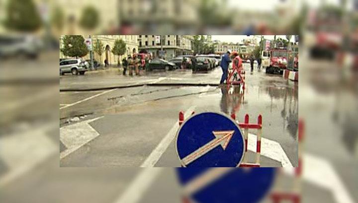 Улицы Трубная и Петровка перекрыты из-за потопа