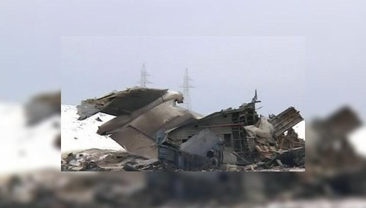 Последние секунды Ил-76: съемка камеры наружного наблюдения