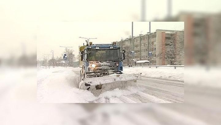 Столицу Эстонии замело снегом
