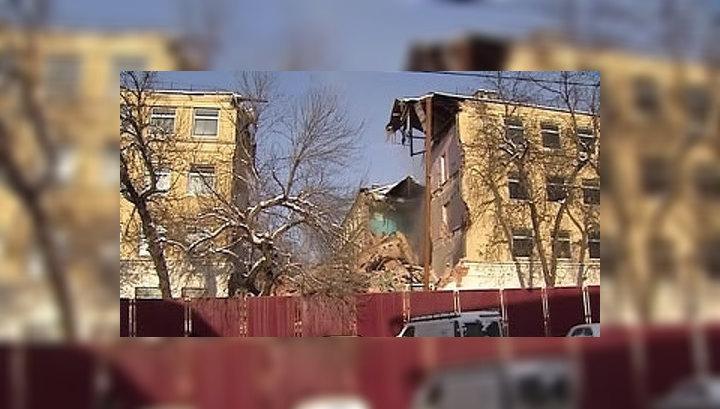 На Хитровке сносят здание техникума