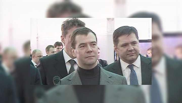 Медведев посетил угольный разрез и дал старт промышленной добыче метана