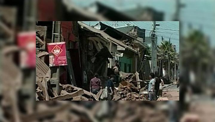 В Чили новое землетрясение