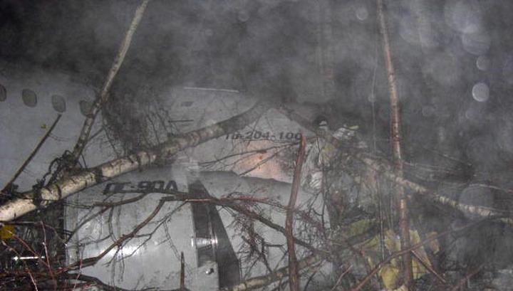 На борту упавшего в Домодедове ТУ-204 пожара не было