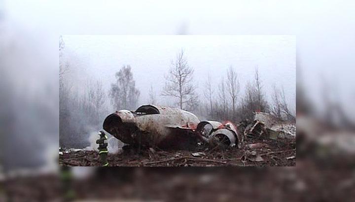Самолет с президентом Польши задел деревья и развалился
