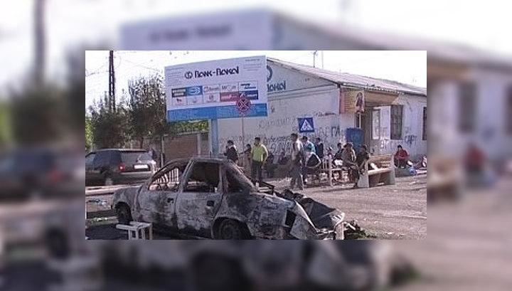 В Киргизии поджигатели стреляют в пожарных