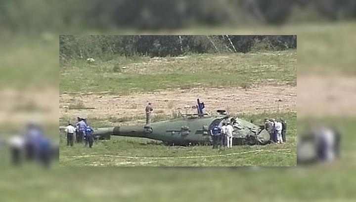 В Подмосковье упал вертолет Ка-60
