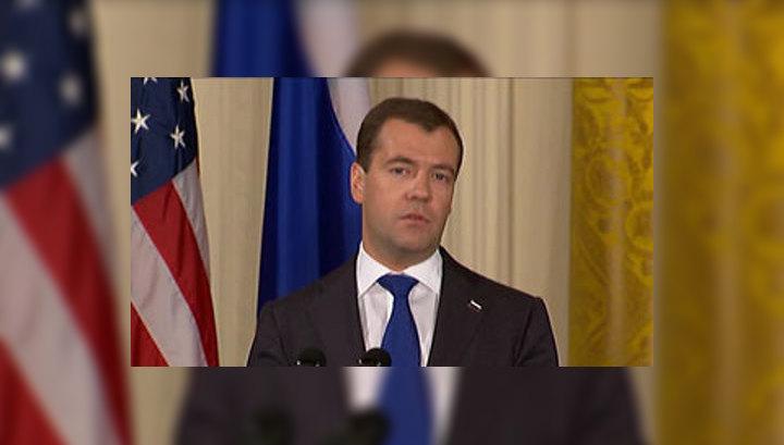 Дмитрий Медведев проводит встречу с руководством американского сената