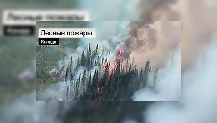 В Канаде при тушении лесного пожара разбился вертолет