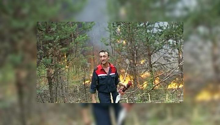 Мордовские пожары помогают тушить армянские спасатели