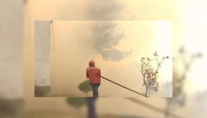 В Португалии набирают силу лесные пожары