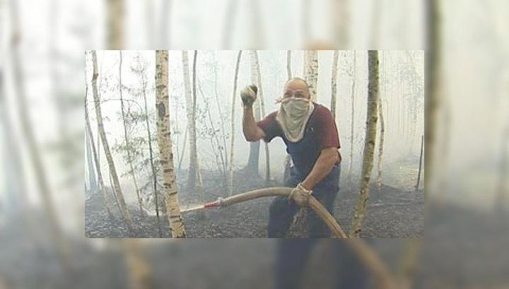 В Нижегородской области дачники сами защищают свои дома от огня
