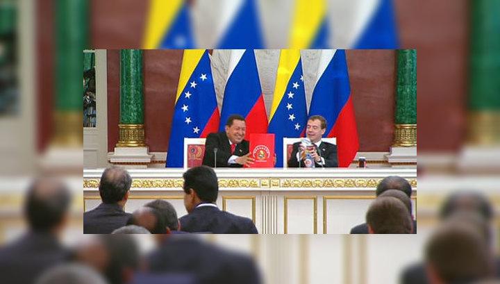 Чавес привез Медведеву три шоколадки и банку варенья