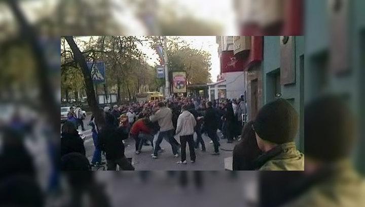 В Воронеже футбольный матч закончился массовой дракой