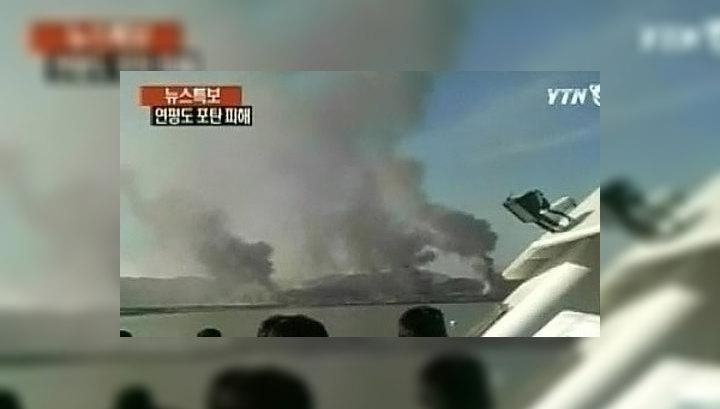 КНДР продолжает обстреливать южнокорейский остров