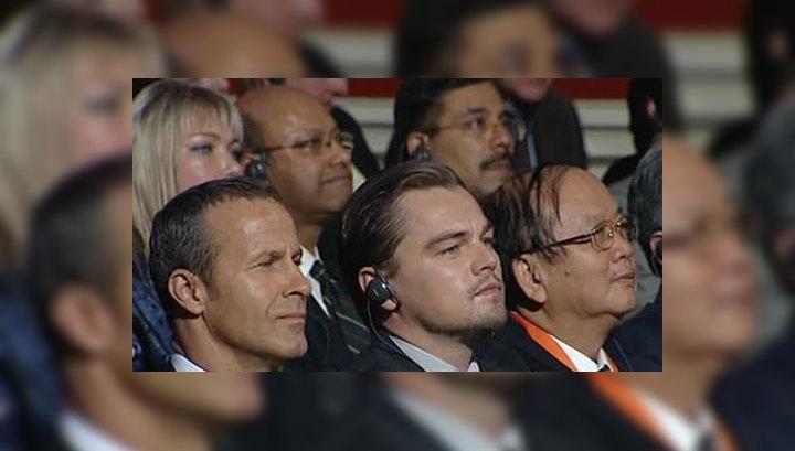 Леонардо Ди Каприо прибыл на Тигриный форум в Петербурге
