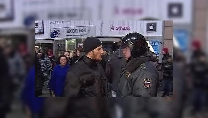 """Собравшихся у """"Европейского"""" оттеснили под землю"""