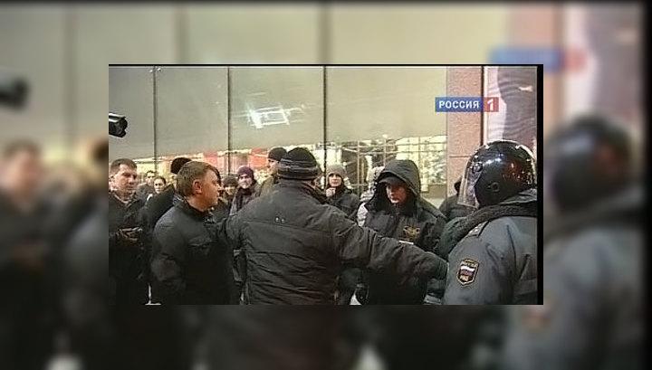 Милиция не дала устроить вторую Манежную у Киевского вокзала
