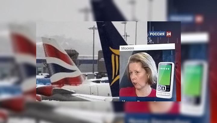 """Снегопады задерживают рейсы """"Аэрофлота"""""""