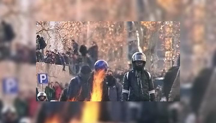 В Риме разгневанные студенты устроили беспорядки