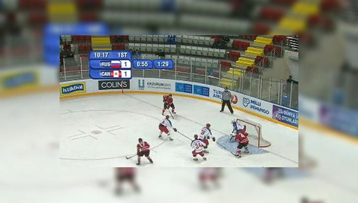 Российские хоккеисты наказали канадцев за пижонство