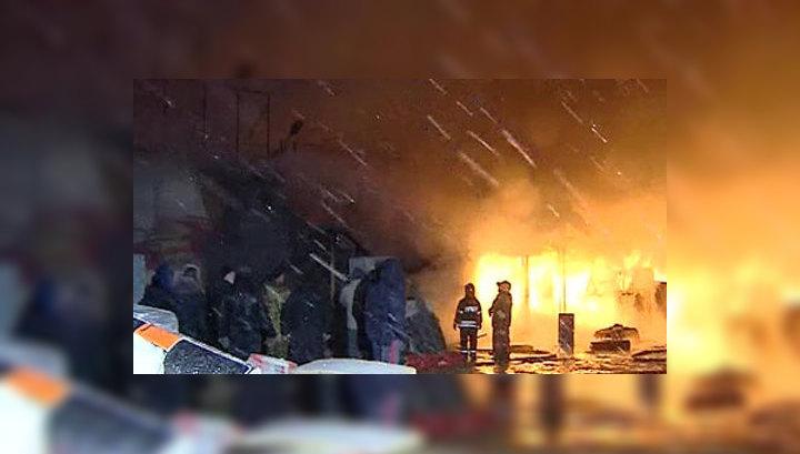 """В пожаре на рынке """"Мельница"""" погибла женщина"""