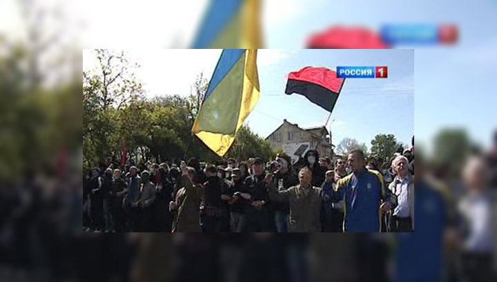 Во Львове ветеранам пришлось вновь биться с нацистами